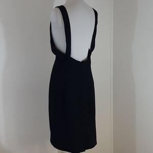 Linda Allard Ellen Tracy open back black dress 12